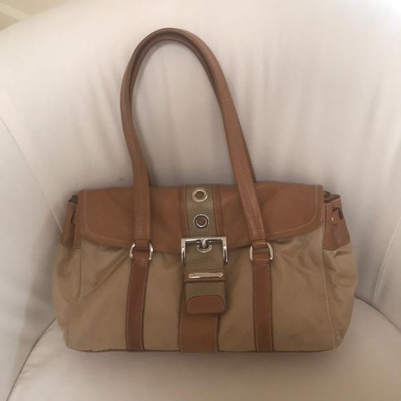d8ae63d988 ... clearance prada auth camel tan shoulder bag handbag e8c1e b0c4b